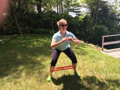 Fitness training - Leg Day with Resistance Bands