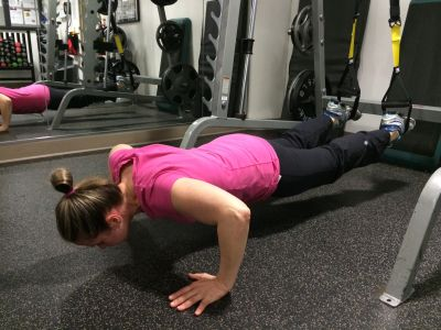Personal training session - TRX Push-ups